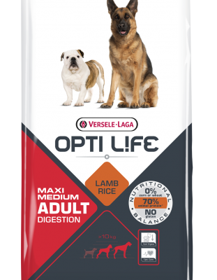OPTI LIFE MAXI MEDIUM DIGESTION 12.5 KG